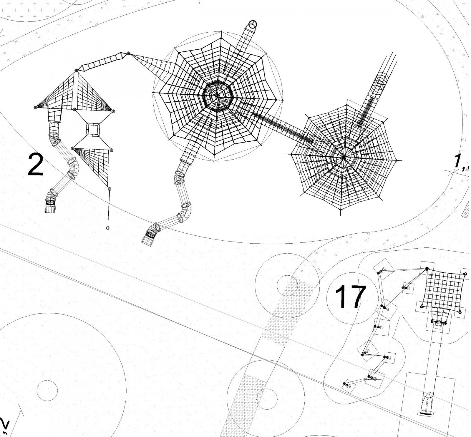 Indywidualny projekt linowy dla Ekomarina Mrągowo - Magicnets