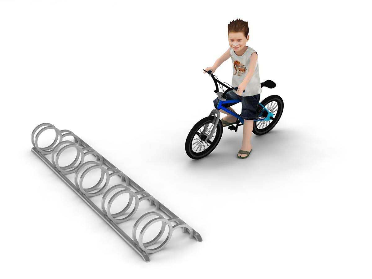 Stojak na 5 rowerów