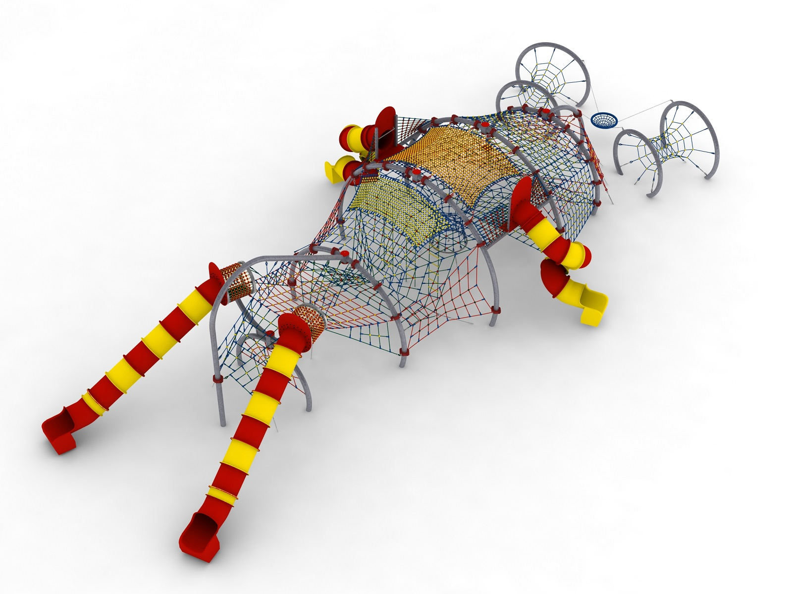 Indywidualny projekt linowego placu zabaw - Sterowiec Błonie - Magicnets