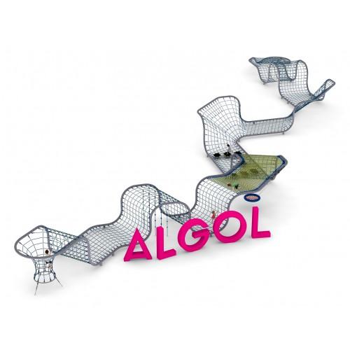 Pojedyncze urządzenie linowe Algol dla placów zabaw - Magicnets