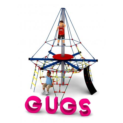 Pojedyncze urządzenie linowe Gugs dla placów zabaw - Magicnets