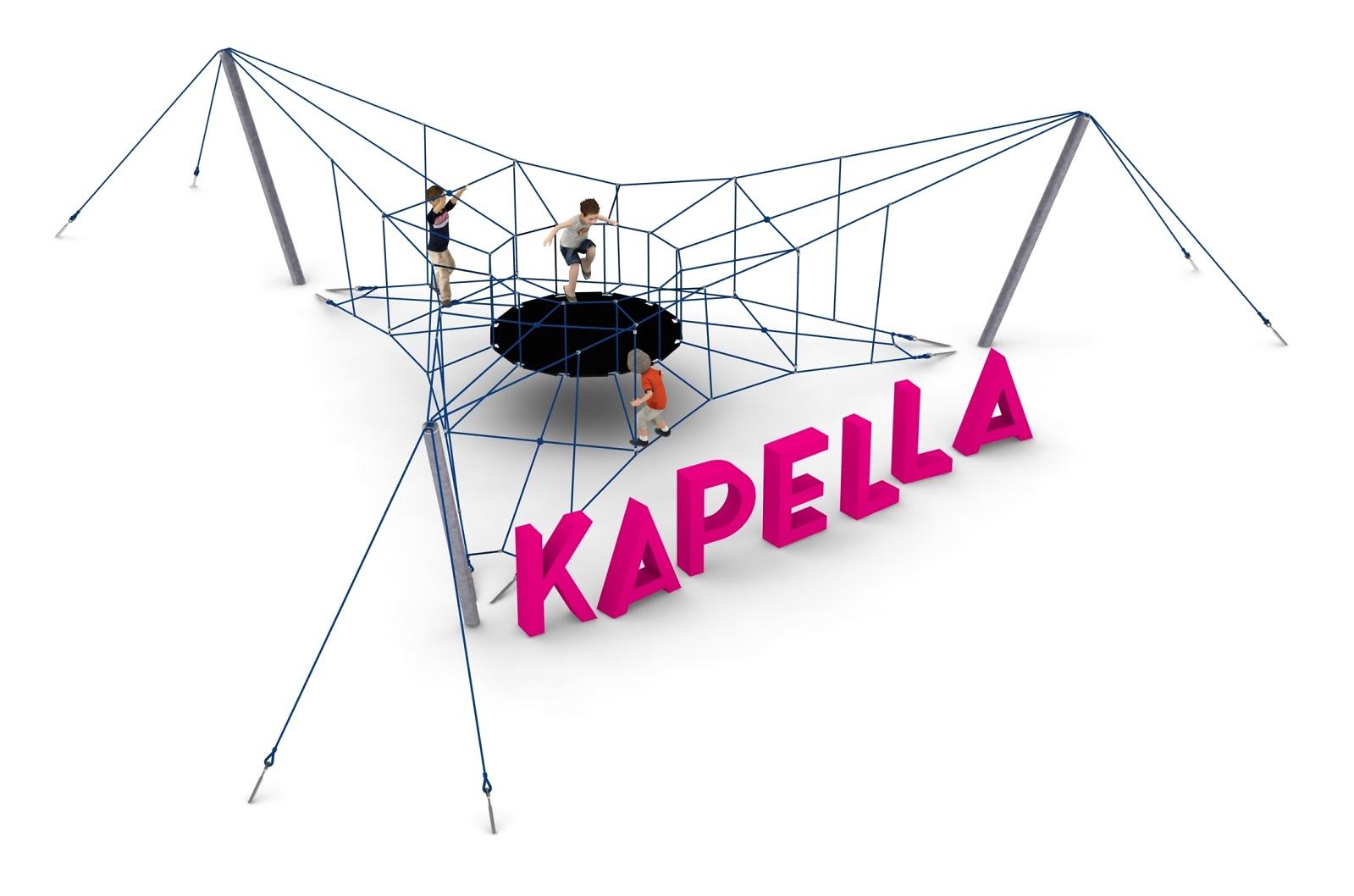 Pojedyncze urządzenie linowe Kapella dla placów zabaw - Magicnets