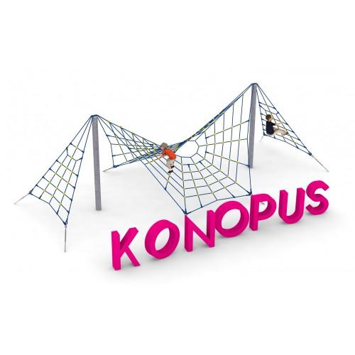 Pojedyncze urządzenie linowe Konopus dla placów zabaw - Magicnets