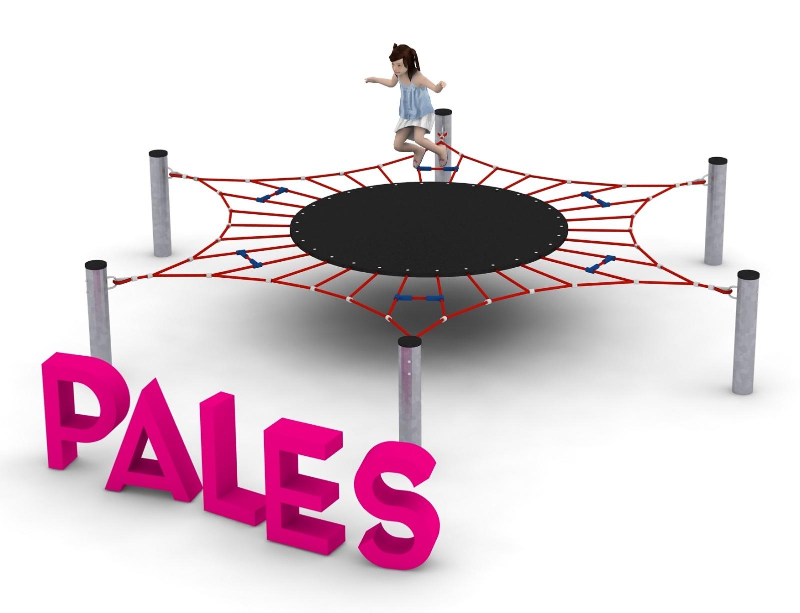 Pojedyncze urządzenie linowe Pales dla placów zabaw - Magicnets