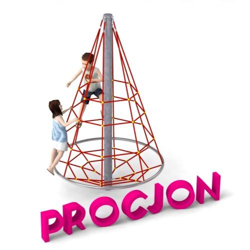 Pojedyncze urządzenie linowe Procjon dla placów zabaw - Magicnets