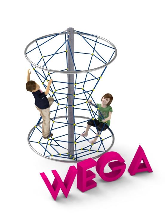 Pojedyncze urządzenie linowe Wega dla placów zabaw - Magicnets