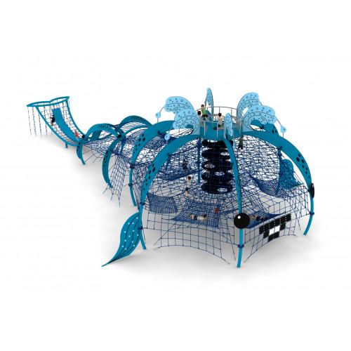 Indywidualny projekt linowy wieloryb dla placów zabaw - Magicnets